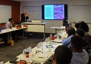 Richard Marlink presenting to Mandela Washington Fellows
