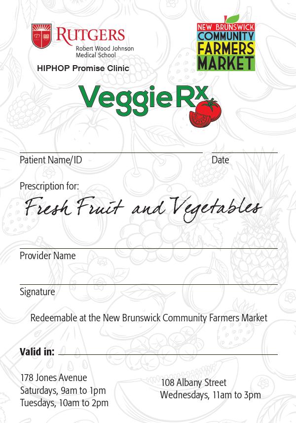 Veggie Rx prescription document